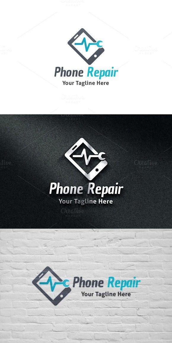 Phone Repair Logo. Gradients 29.00 Loja de