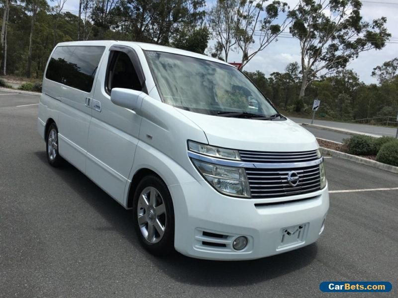 2003 Nissan Elgrand E51 Highway Star White Automatic 5sp Automatic Wagon #nissan #elgrand #forsale #australia