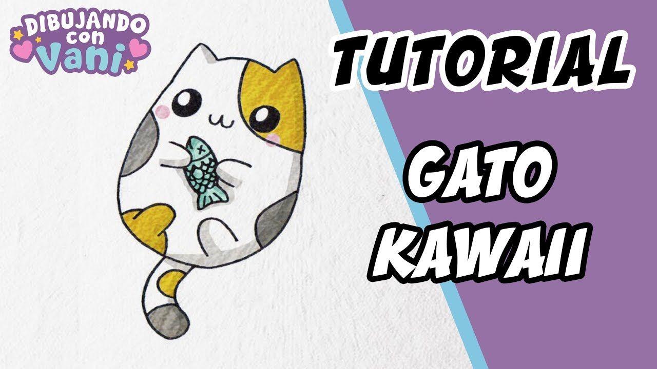 Como Dibujar Un Gato Kawaii Dibujos Faciles Paso A Paso Draw Cat Como Dibujar Un Gato Gatos Kawaii Dibujos Kawaii