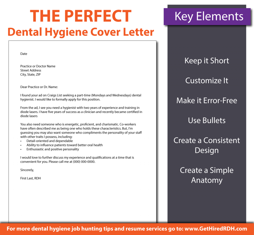 The Perfect Dental Hygiene Cover Letter 01 Resume