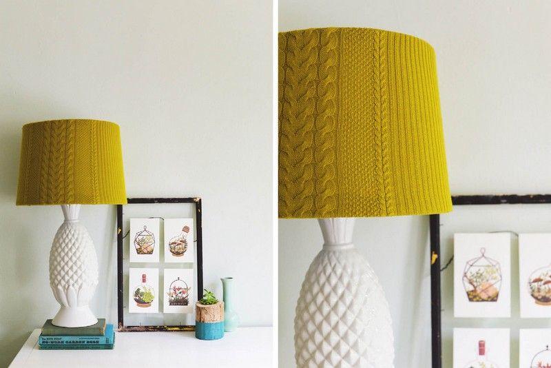 Der Lampenschirm in attraktiver Kontrastfarbe
