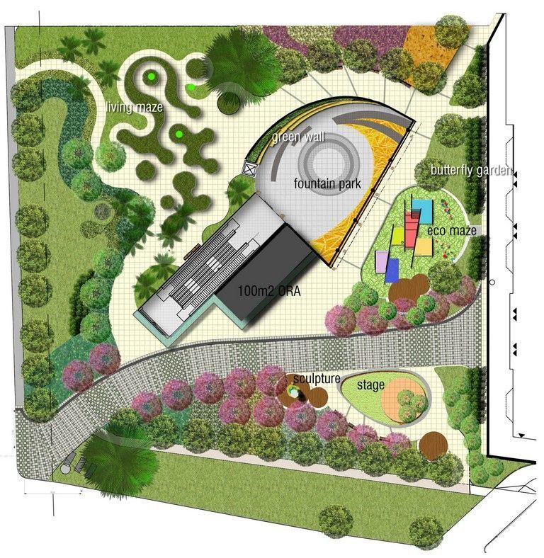 Small Park Design Parking Design Landscape Design Drawings Park Landscape