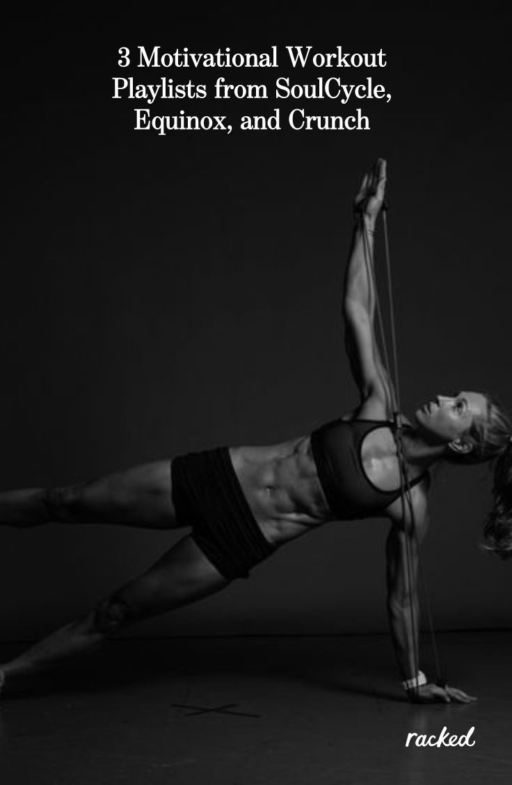 3 Motivational Workout Playlists from SoulCycle, Equinox, and Crunch's Best Trai... - Fitness -   #C...