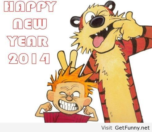 cartoon happy new year 2014