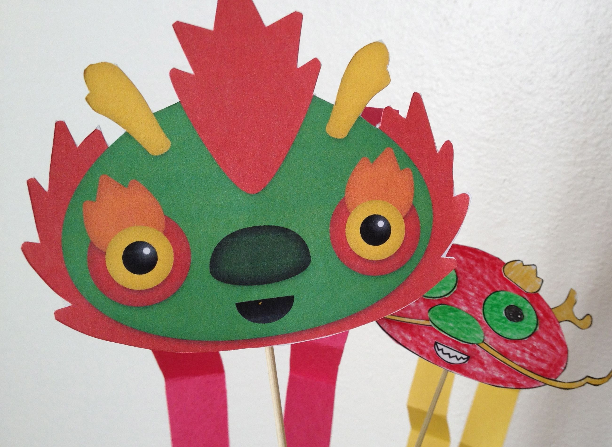 Pre-k Dancing Dragon. An Original #kids #craft by www.piikeastreet ...