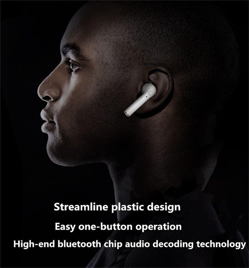 Iphone Payrain Bluetooth Earphone Mini Wireless Headset In Ear Earphone Earpiece Headphone Sport Headset For Apple Iphone 7 7 Plus Hbq I7