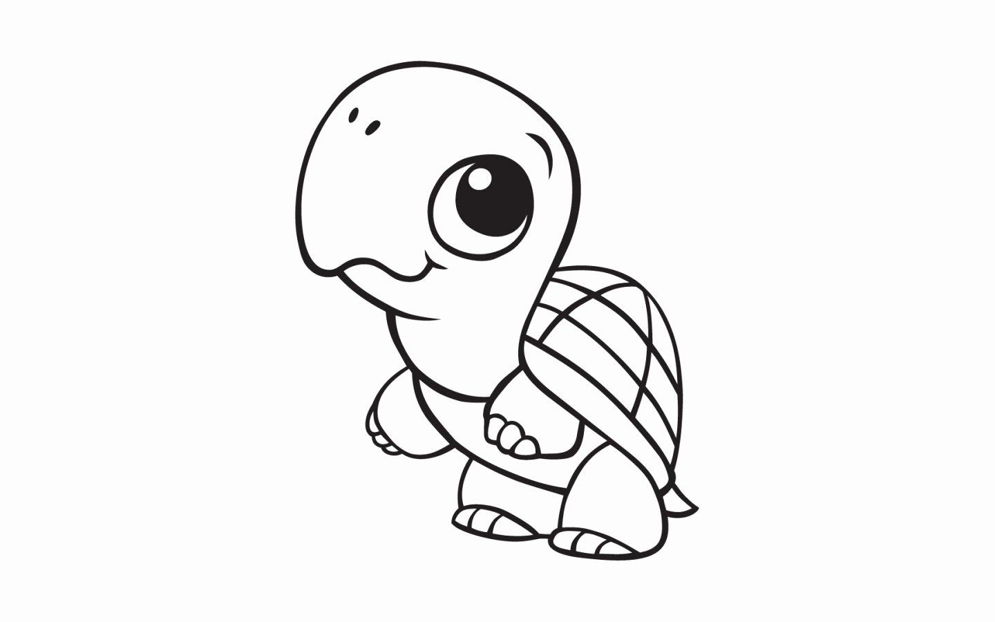 Cute Baby Animals Coloring Pages In 2020 Turtle Coloring Pages