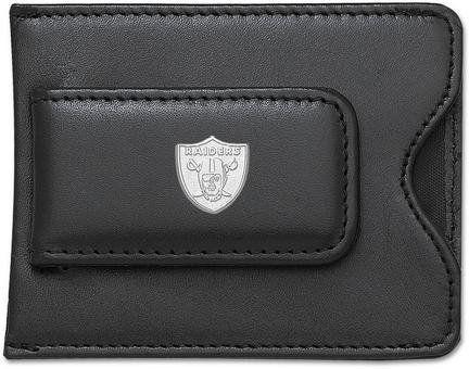 Oakland Raiders Leather Money Clip//Cardholder