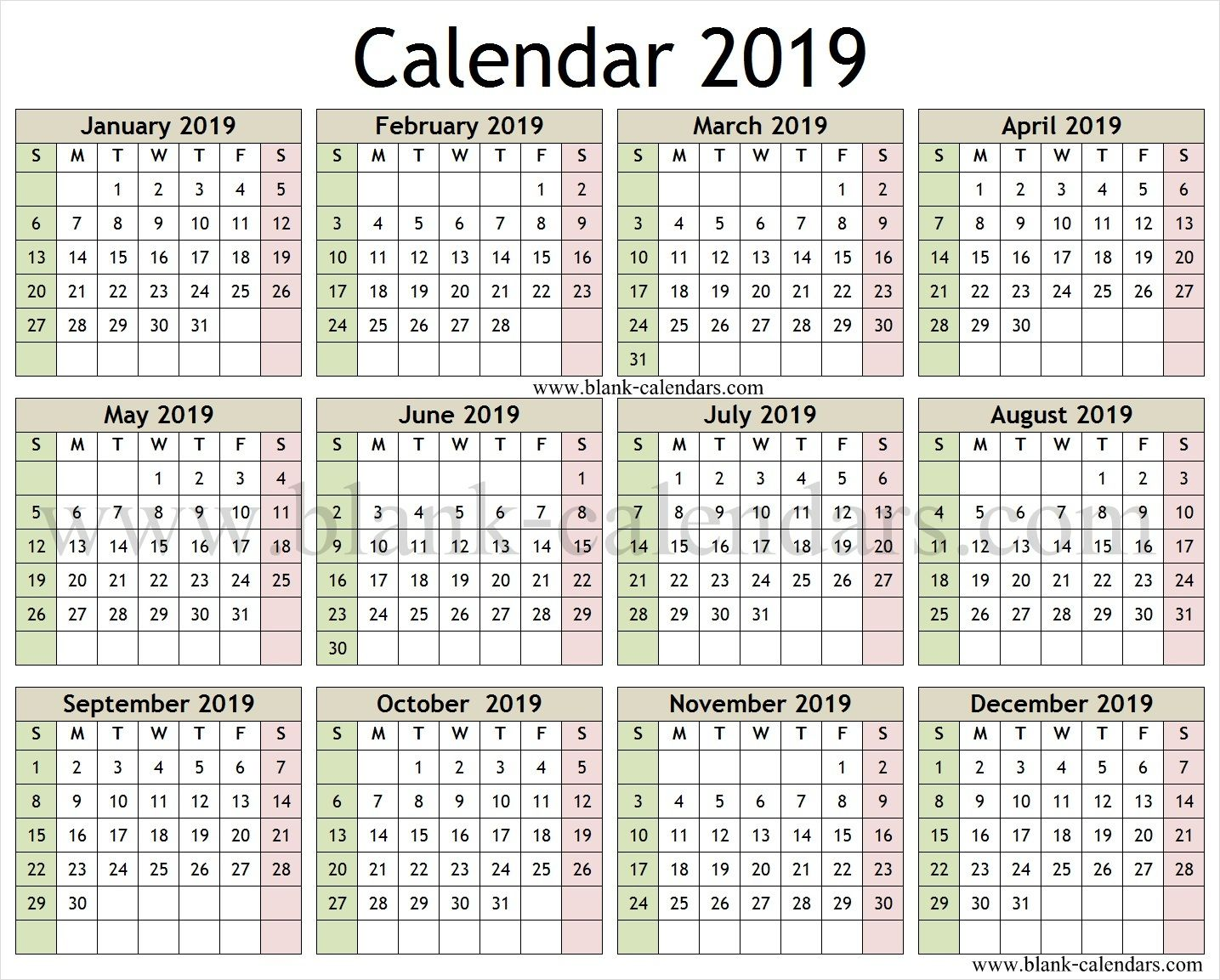 Calendar 2019 English And Arabic Printable Template Calendar