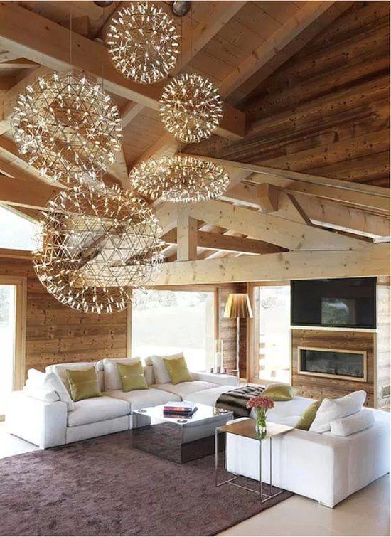 lustres chalet design une d co de r ve blanc pour la. Black Bedroom Furniture Sets. Home Design Ideas
