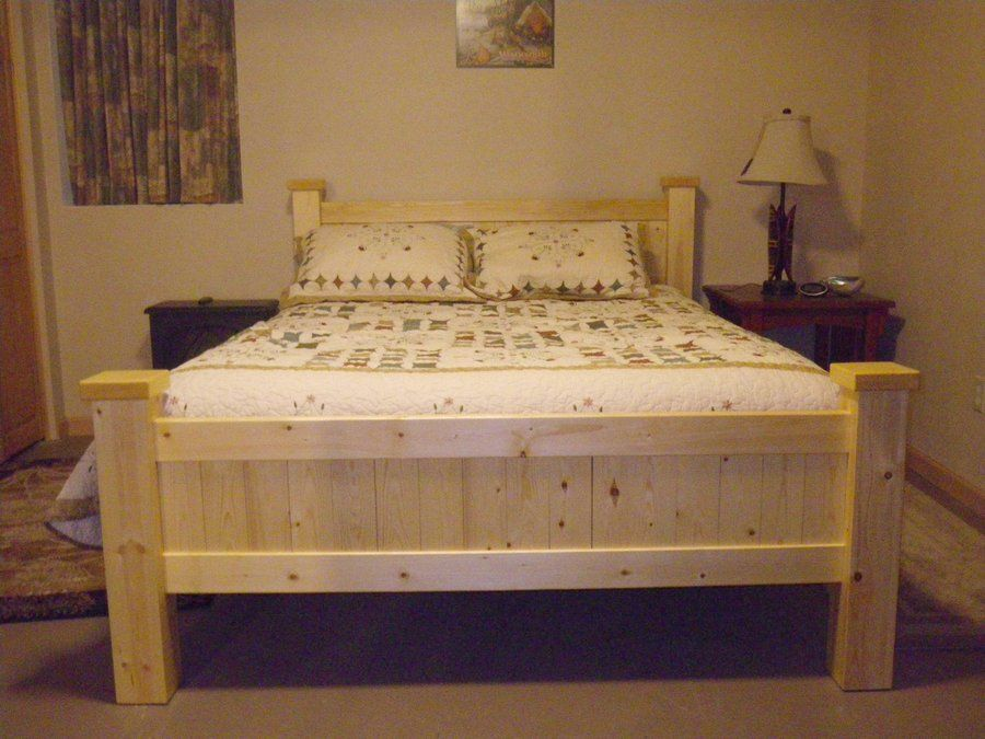 Bedroom Furniture Made Out Of Pallets nice bed made out of 2x4's and 1x4's. | cabins | pinterest