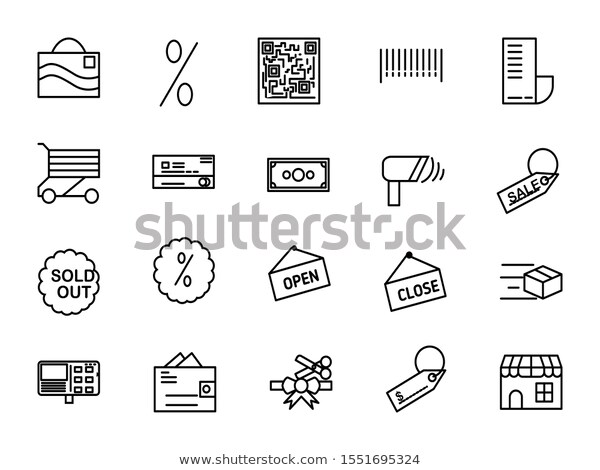 Black Friday Icons Set Vector Illustration Stock Vector Royalty Free 1551695324 Icon Set Vector Icon Set Vector Illustration