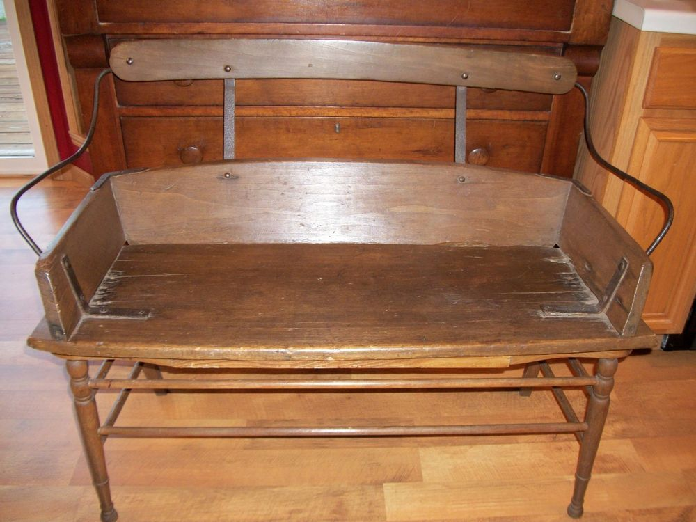 Superb Antique Early 1800S Old Original 19Th C Wooden Wagon Bench Inzonedesignstudio Interior Chair Design Inzonedesignstudiocom