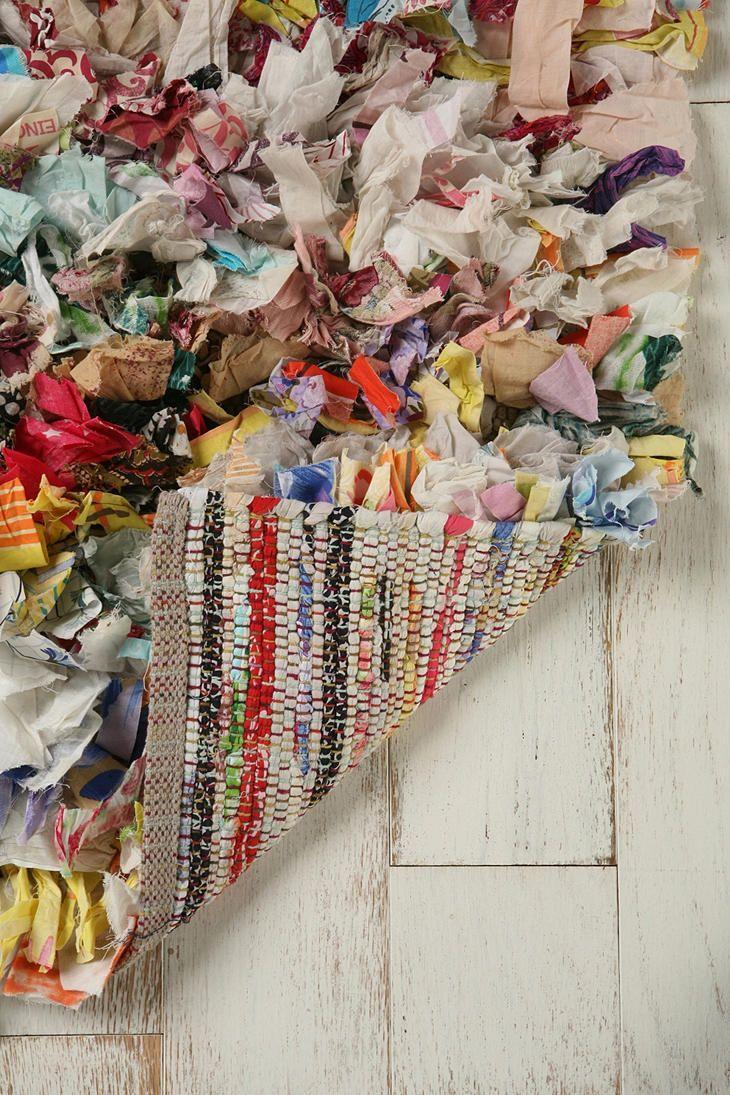 2x3 Scarf Strips Rag Shag Rug Crochet Rag Rug Rag Rug Tutorial Diy Rug