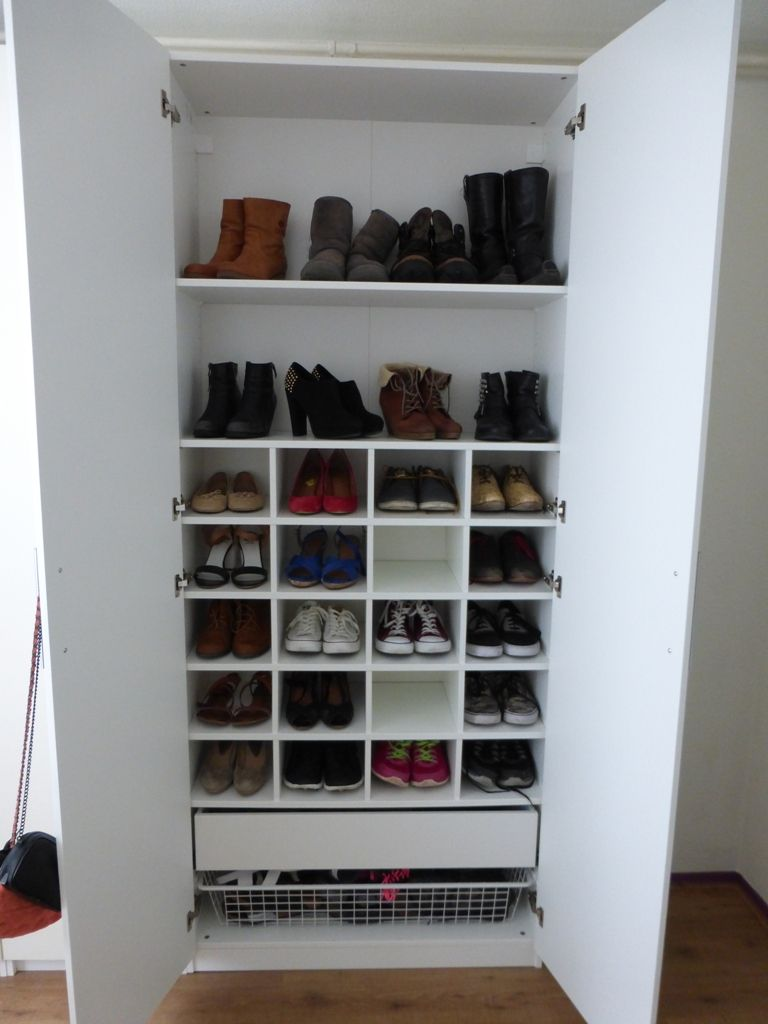 Handige kast om schoenen die regelmatig worden gedragen in