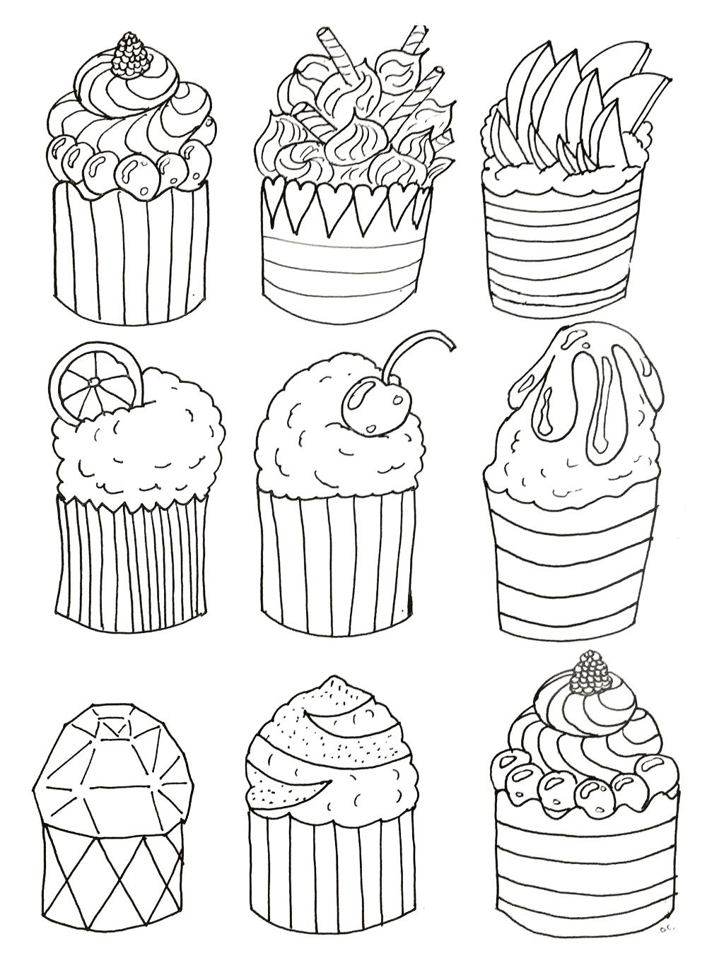 Simple Cup Cakes Coloriages Cupcakes Et Gateaux Just Color Licorne A Colorier Coloriage Livre De Couleur