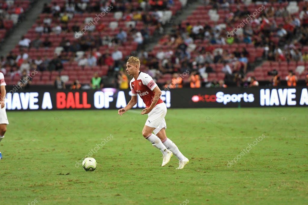 Kallang Singapore 26jul2018 Emile Smith Rowe Player Arsenal Action Icc2018 In 2020 National Stadium Singapore Photos Singapore
