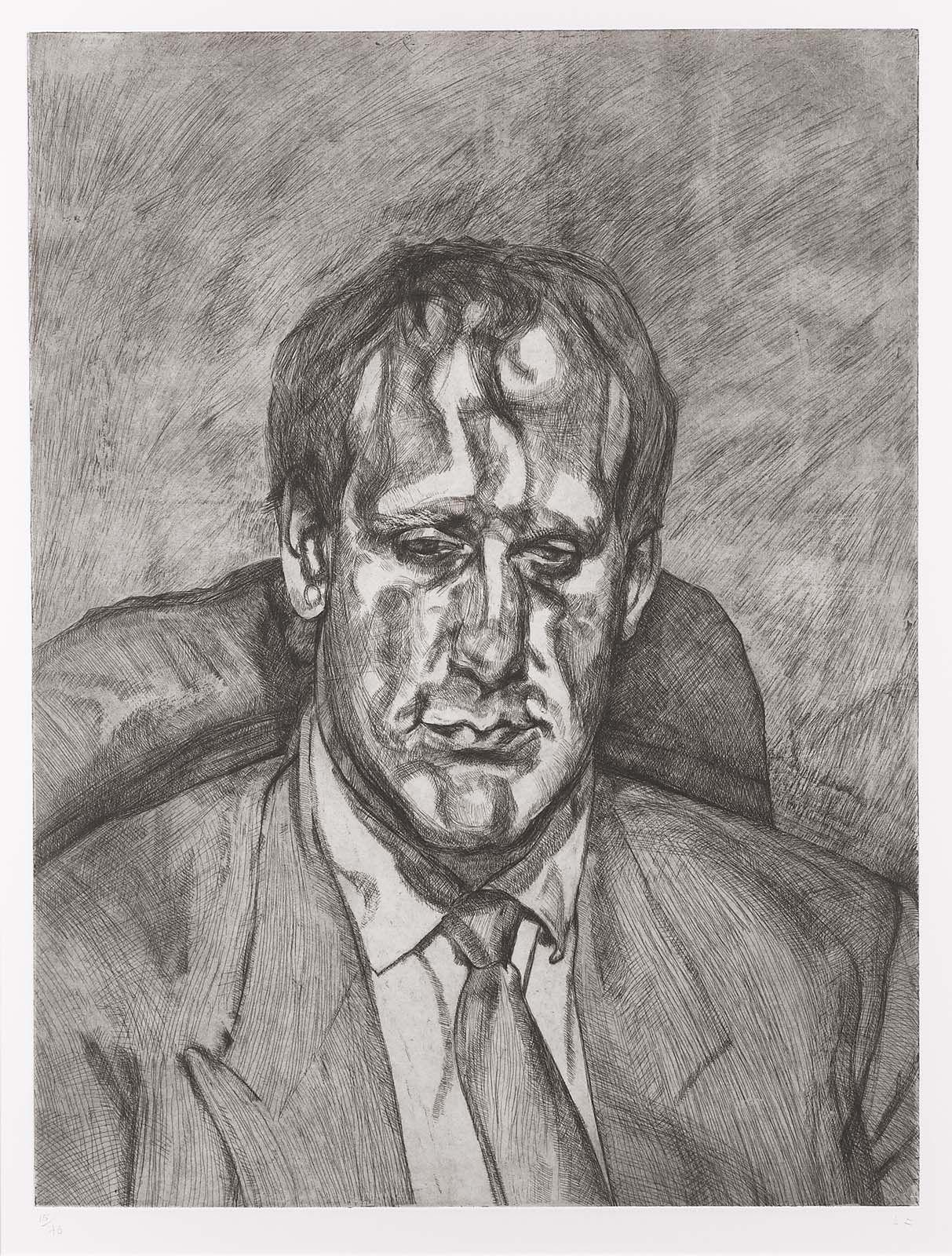 Head of an Irishman, Lucian Freud, 1999