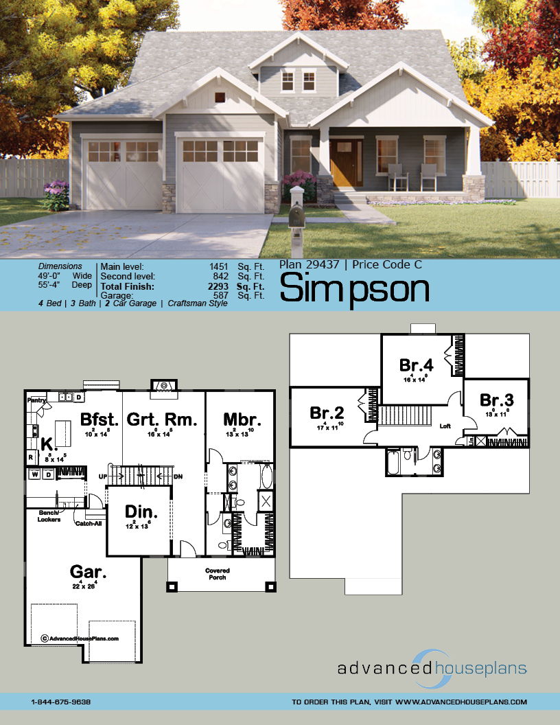 1 5 Story Craftsman House Plan Simpson Craftsman House Plan Craftsman House Plans House Plans