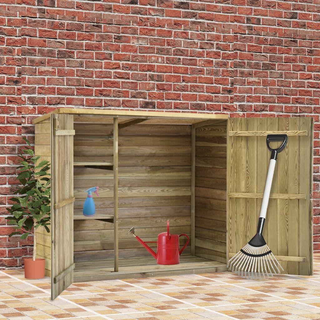 vidaXL Tool Shed 135x60x123 cm Impregnated Pine
