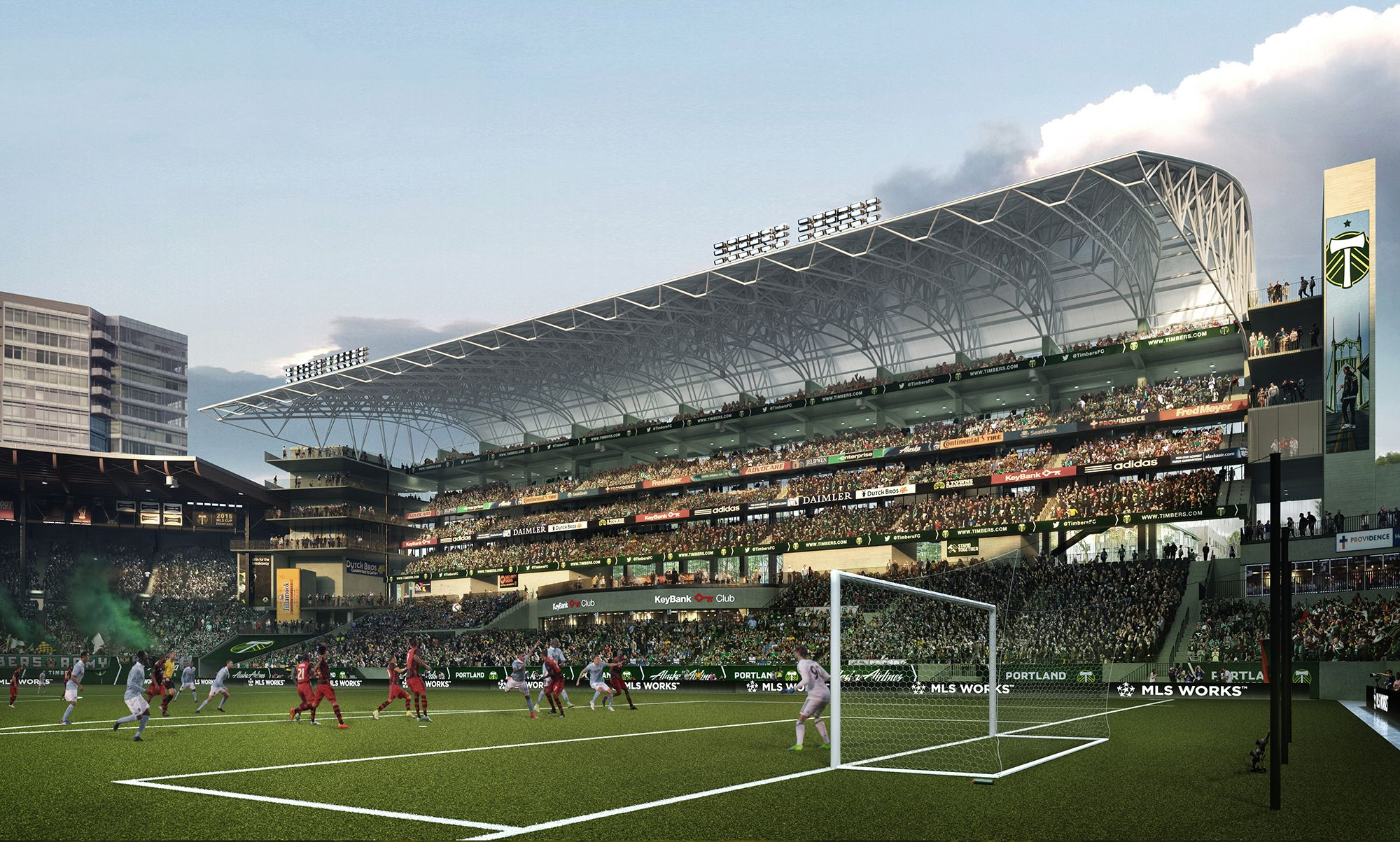 A Soccer Cathedral Grows Providence Park To Add Approximately 4 000 New Seats In Modern Expansion Portland T Portland Timbers Providence Park Soccer Stadium