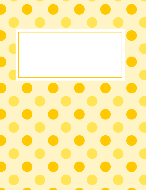 Free Printable Orange And Yellow Polka Dot Binder Cover Template