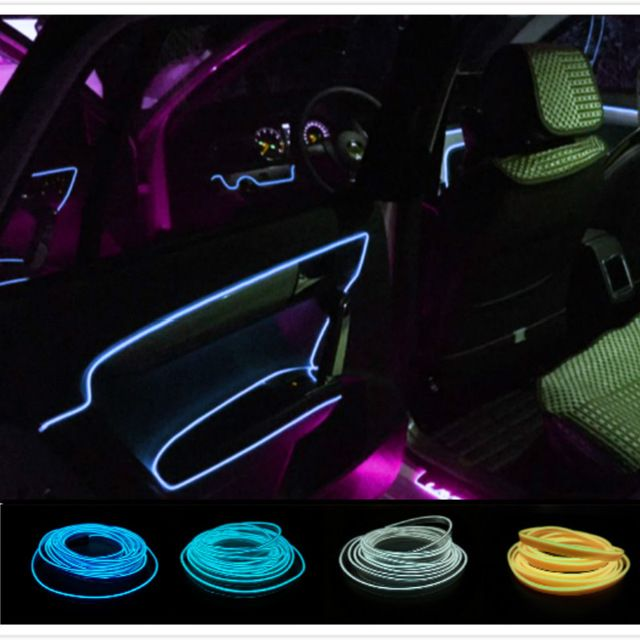 Fabulous 10 Colors Car Styling 3M Flexible Neon Light Glow El Wire Car With Wiring Database Liteviha4X4Andersnl