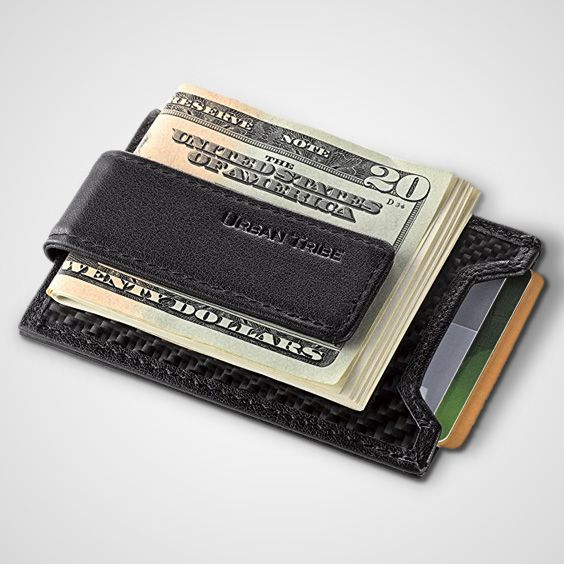 Urban Tribe Slim Money Clip Wallet EDC Front Pocket Card Holder Minimalist RFID Sleeve Wallet