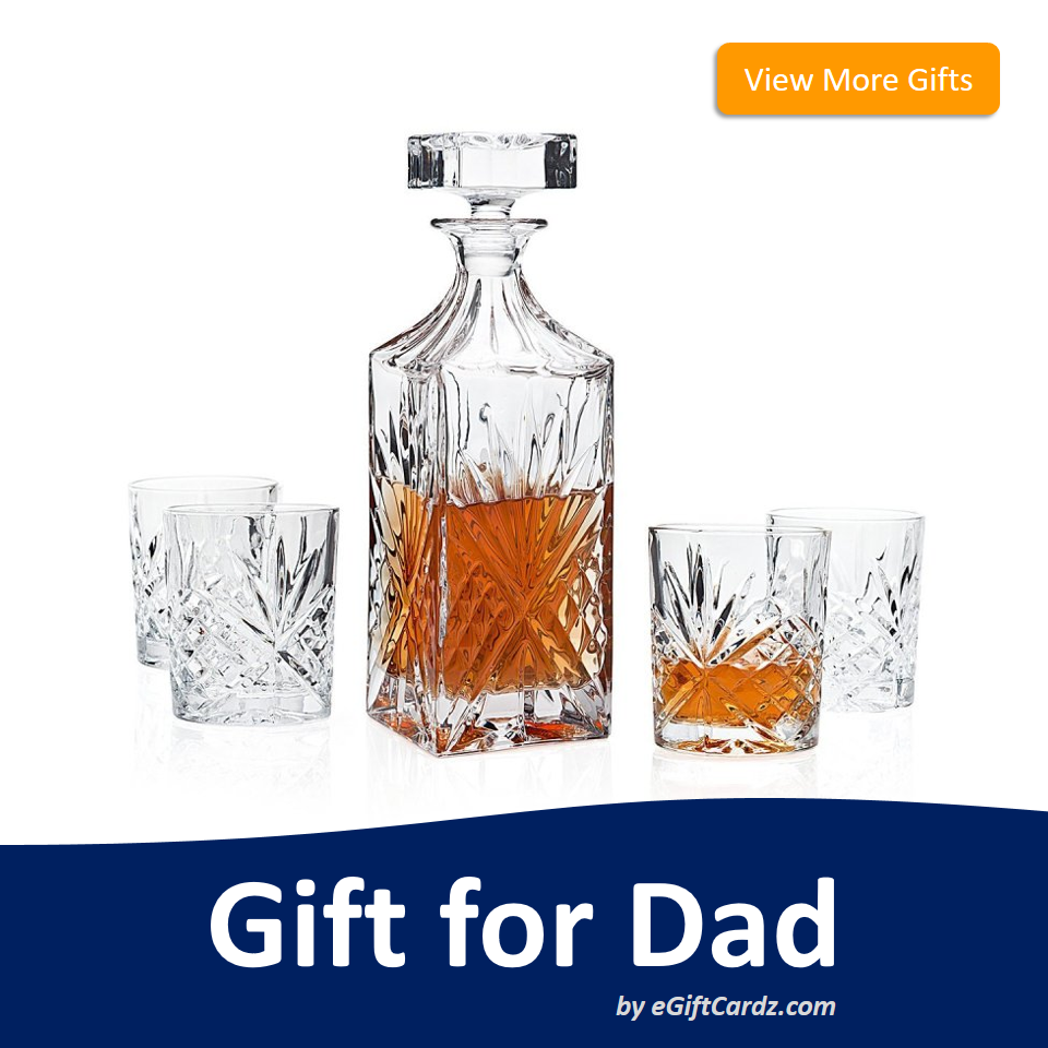 Gift your dad this whiskey decanter is he is a whiskey lover. Check ...