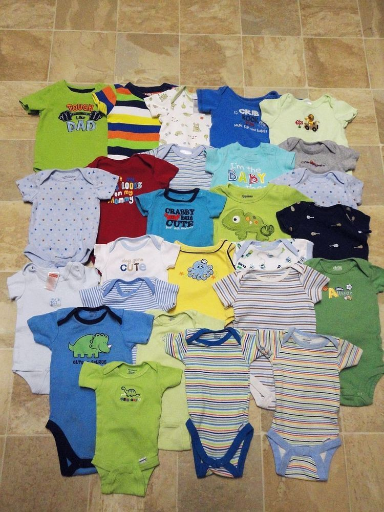 917e46231 BABY BOY newborn 0-3 3-6 months ONESIE CLOTHES summer LOT 26 one peice  #OldNavyjumpingbeansgerberect #DressyEverydayHoliday