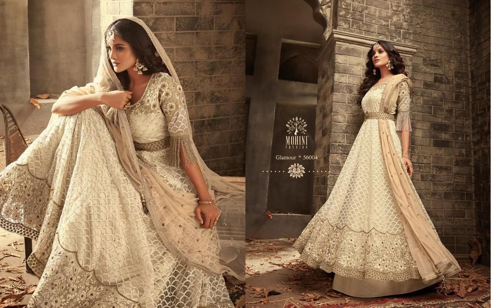 Details About Long Gown For Wedding Reception Womens Wear Indian