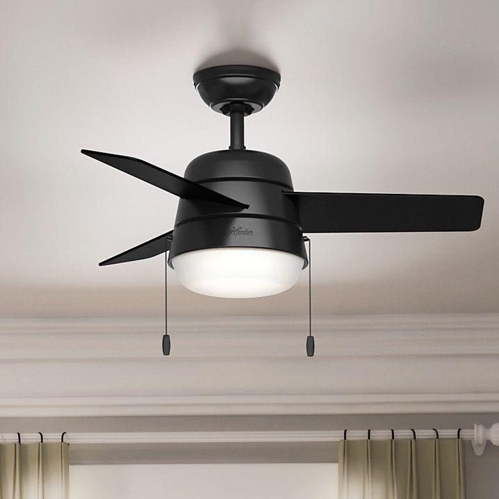 Hunter Fan Aker Matte Black 36 Inch Ceiling Includes 4 2