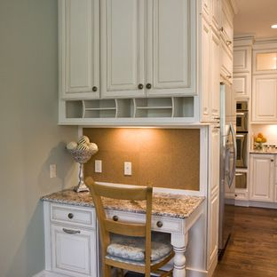 Built in desk ifea i like the mail slots under the for Built in place kitchen cabinets