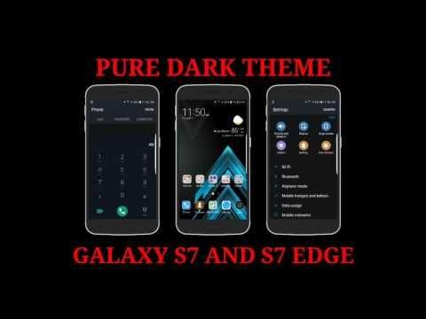 PURE DARK THEME for Galaxy S7 and S7 Edge / Tema PURE DARK