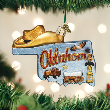 State Of Oklahoma Ornament Old World Christmas Ornaments National Cowboy Muse Old World Christmas Ornaments Old World Christmas Cowboys Christmas Ornaments
