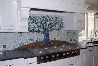 Piastrella da bagno da cucina da parete in vetro haze gray