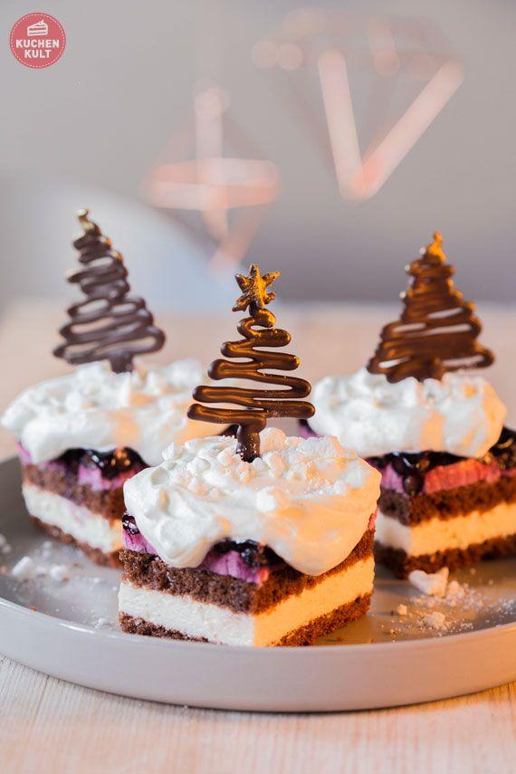 Advents-Kaffee mit Kuchen-Baum und Torten-Stern | Advent ...