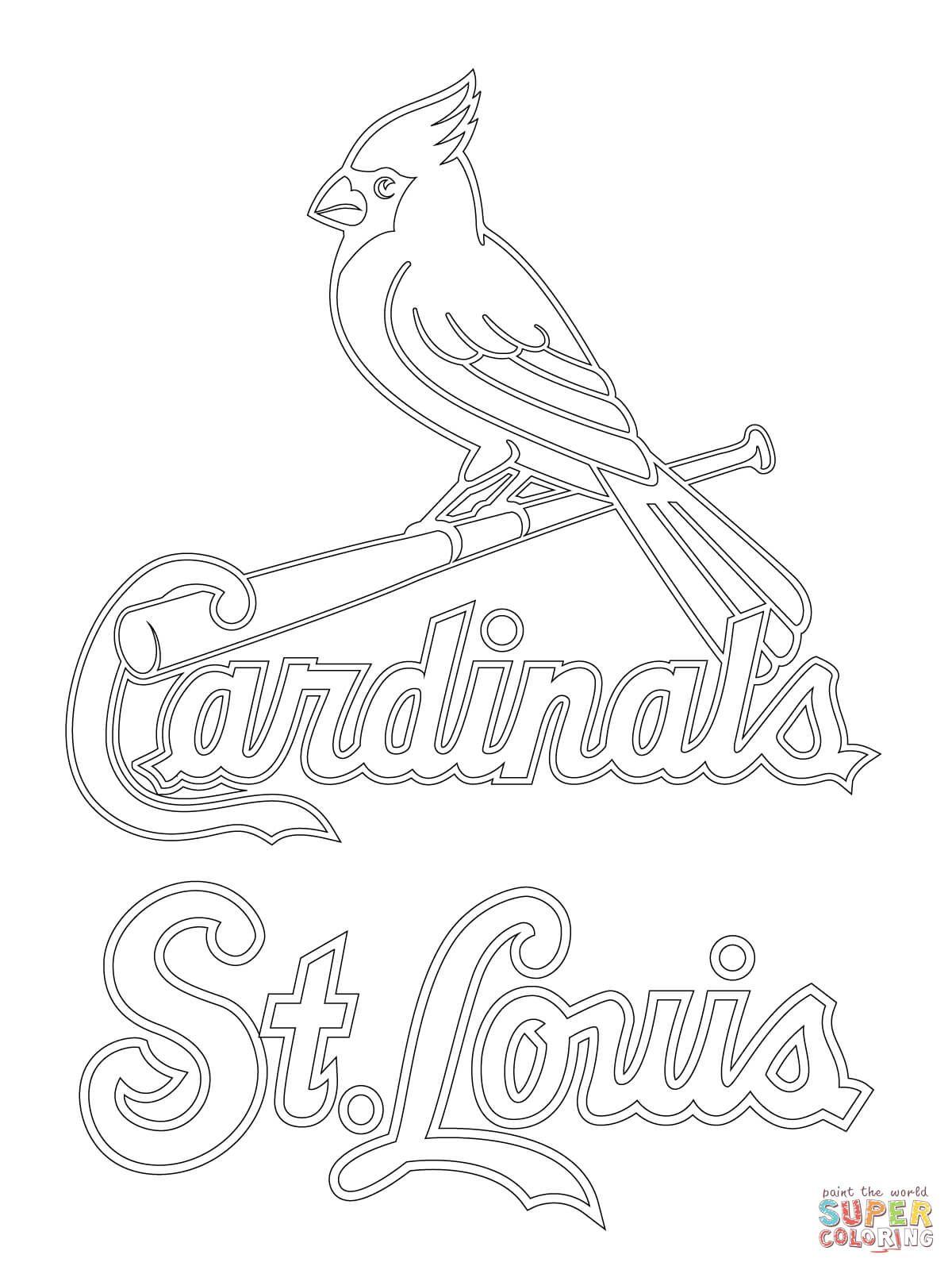 St. Louis Cardinals Logo | Super Coloring | St. Louis Cardinals and ...