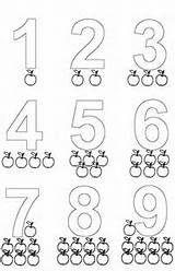 Los Numeros Del Uno 1 Al Nueve 9 Para Imprimir Colorear Pin
