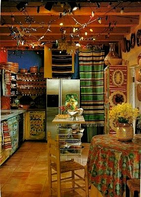 Colorful Mexican Kitchen In 2019 Mexican Home Decor