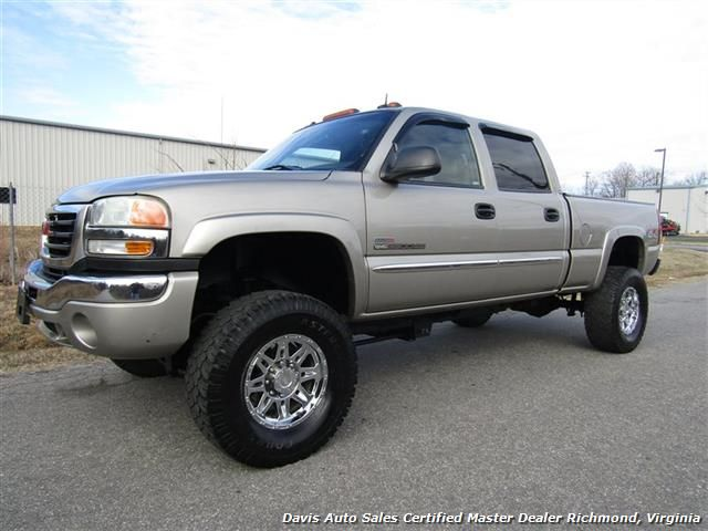 used 2003 gmc sierra 2500 hd slt duramax diesel lifted 4x4 crew cab short bed for sale in. Black Bedroom Furniture Sets. Home Design Ideas