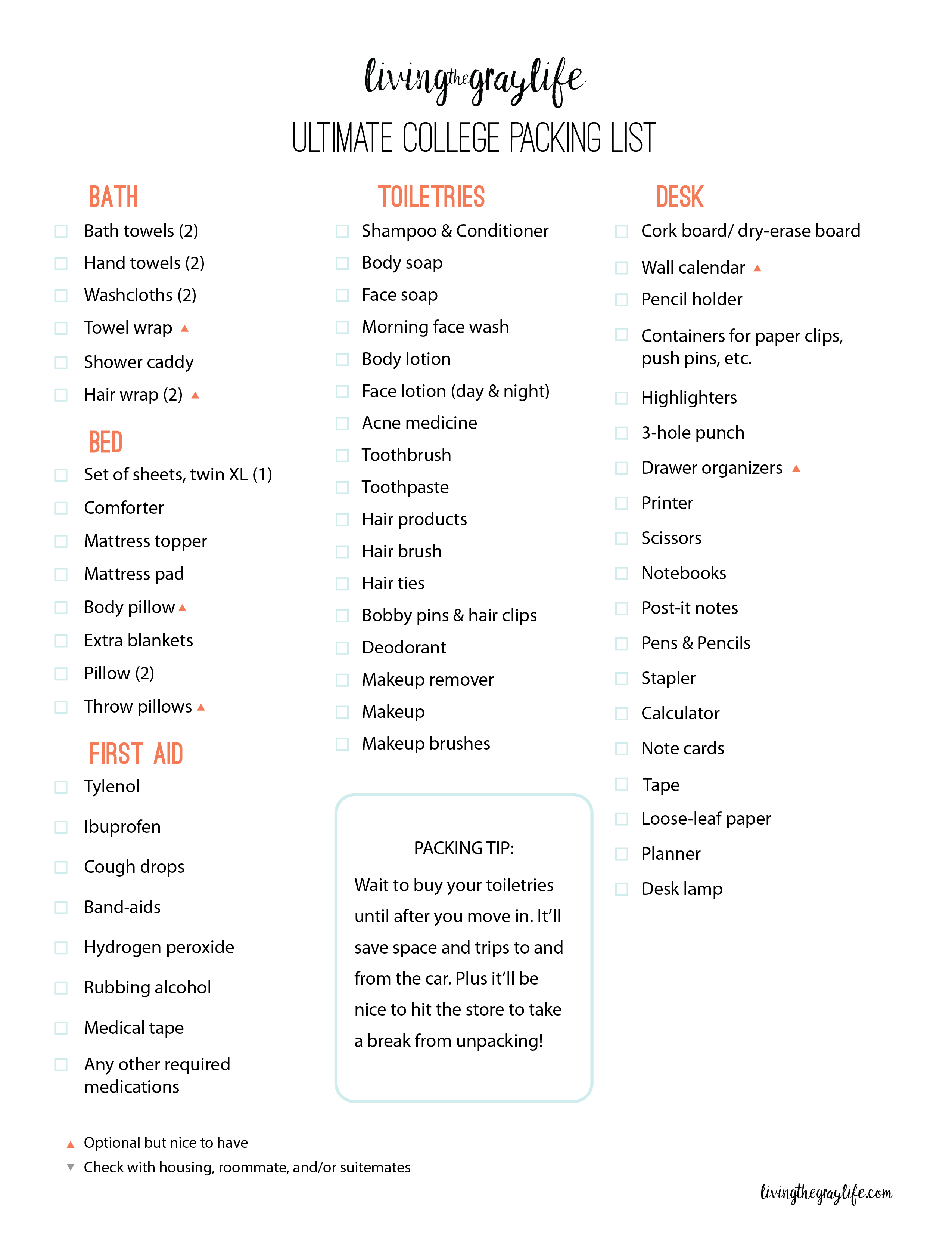Ultimate College Packing Guide images