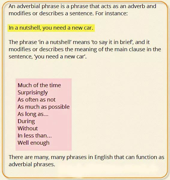 Adverbial Phrase | We Are Writers! | Adverbial phrases
