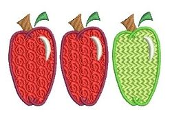 Apples Filled 4x4 and 5x7   back-to-school   Machine Embroidery Designs   SWAKembroidery.com Needle in a Haystack