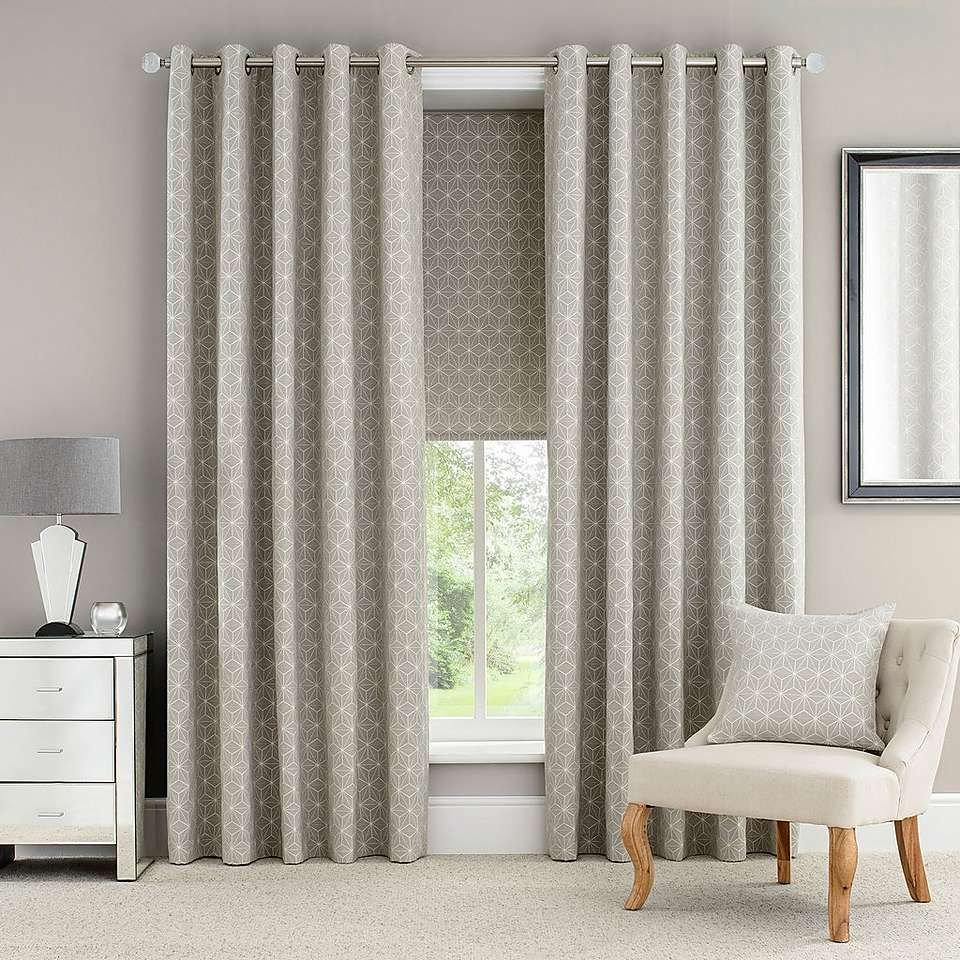 Natural astra lined eyelet curtains dunelm dining room pinterest lounge ideas living for Lined valances for living room