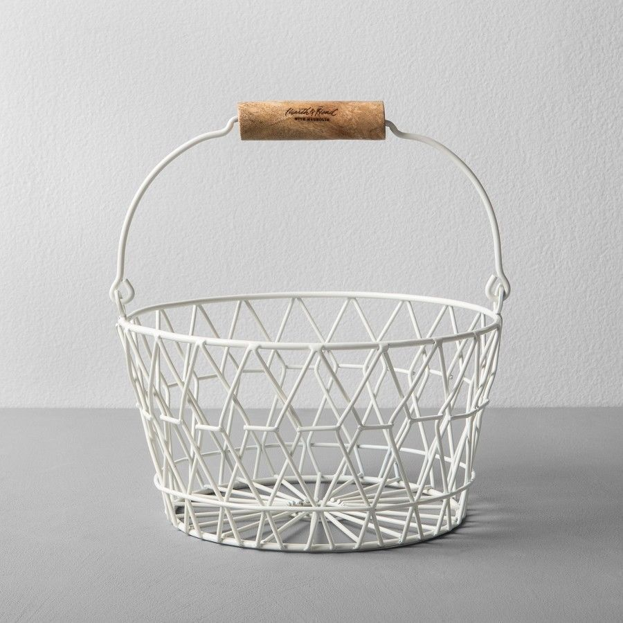 Easter Egg Basket Decorative Wire Beautiful Solid For Home ...