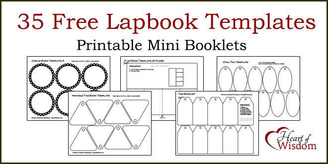35 FREE Lapbook Templates #free #minibooks #booklets Chapbooks ...