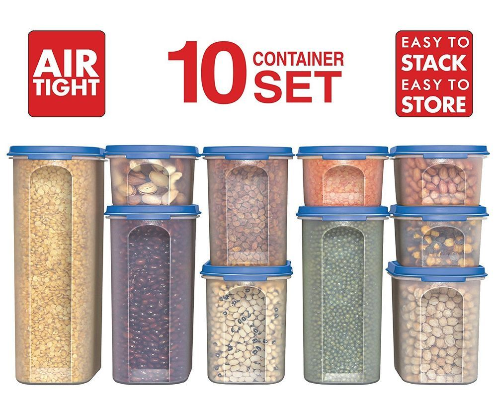 Food Storage Containers Stacko 20 Pc Airtight Dry Food Container With Lid Food Storage Container Set Glass Food Storage Containers Food Storage Containers