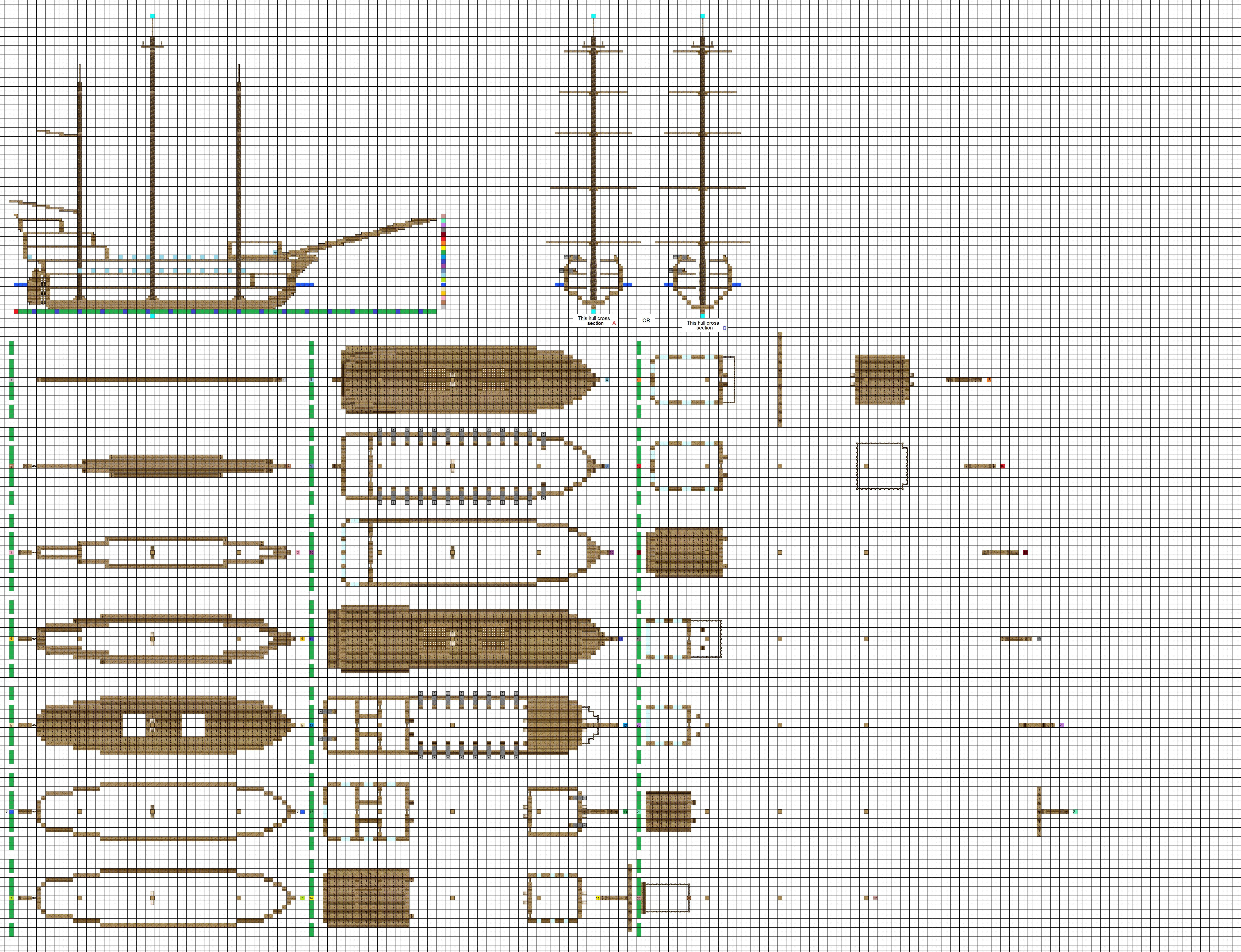 Minecraft Architecture Blueprints