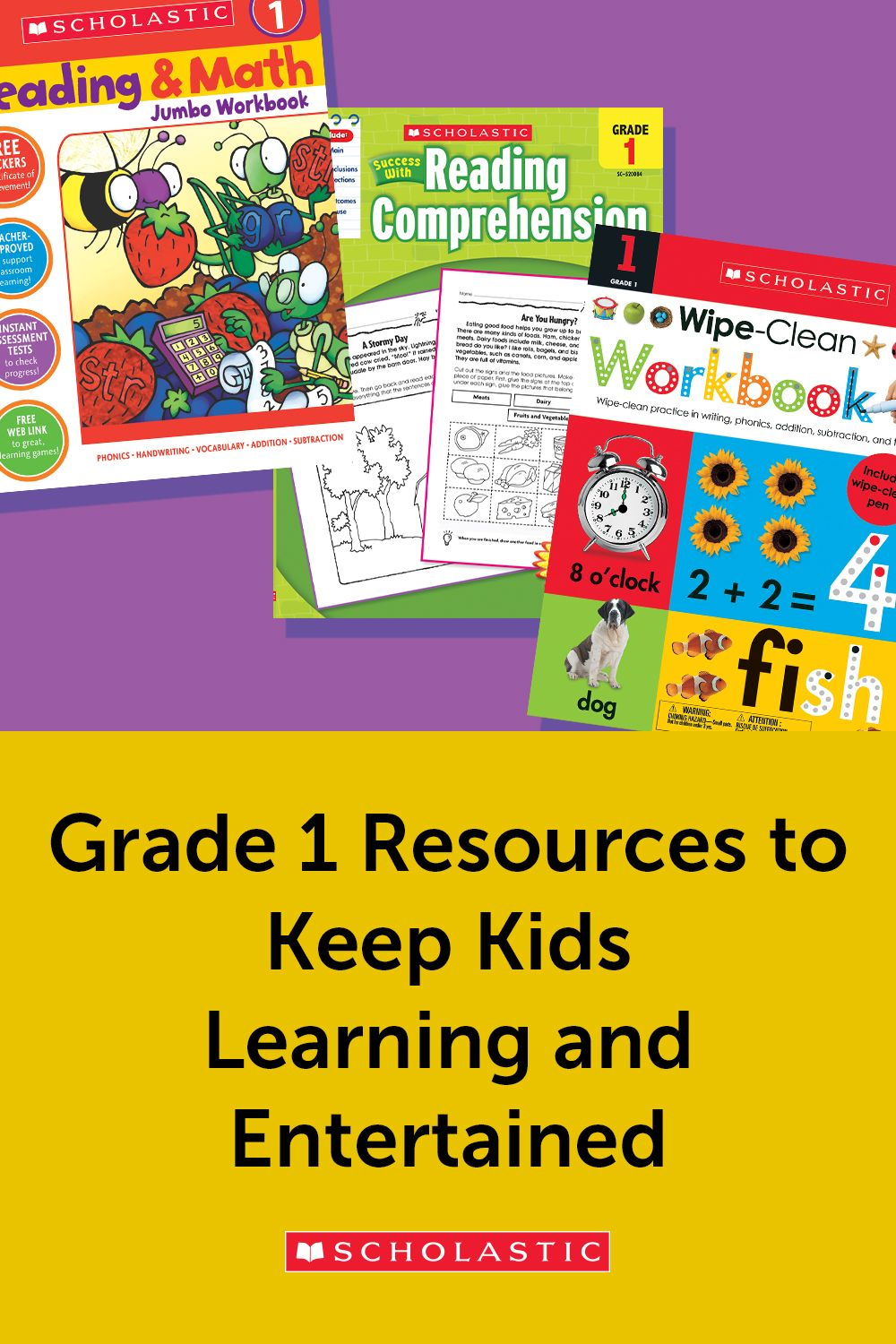 A Collection Of Scholastic Workbooks And Activities To Keep First